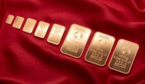Goldbarren zum Gold kaufen in verschiedenen Größen