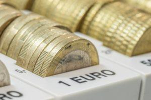 Münzen für Privatkredit in Zählbrett